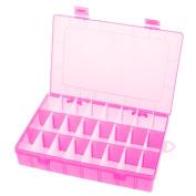 Doober 24 Slots Jewellery Mini Storage Removable Slat Transparent Plastic Containing Box