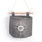 Gotoole Practical Navy Anchor Wheel Pattern Home Decor Hanging Hanger Storage Bag