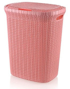 Wee's Beyond W08-1076-Pink Knit Style Laundry Hamper 55 Litres