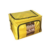 Eight24hours New Home Storage Bins Box Bag Organiser Container Case Clothing Blanket - Yellow