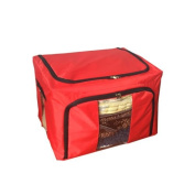 Eight24hours New Home Storage Bins Box Bag Organiser Container Case Clothing Blanket - Red