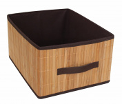 Eight24hours Bamboo Laundry Hamper Bamboo Clothes Bin Natural Storage Basket Rectangular Bin