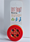 Sock+its NO SOCK is LEFT BEHIND - Sock Keeper - Sorter - (8 Pack) Circle Shape in mixed colours