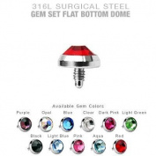 Microdermal Jewellery 5mm Jeweld Dermal Anchor Body Piercing Surgical Steel Mix Colours 11 Tops By Eg Gifts