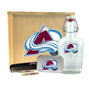 NHL Colorado Avalanche Gentlemen's Gift Box-Toiletry Edition 1-250 ml Glass Swing-Top Bottle, 25cm x 23cm x 9.5cm