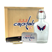 NHL Washington Capitals Gentlemen's Gift Box-Toiletry Edition 1-250 ml Glass Swing-Top Bottle, 25cm x 23cm x 9.5cm
