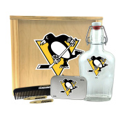 NHL Pittsburgh Penguins Gentlemen's Gift Box-Toiletry Edition 1-250 ml Glass Swing-Top Bottle, 25cm x 23cm x 9.5cm