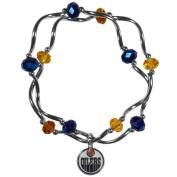 NHL Edmonton Oilers Womens Crystal Bead Bracelet