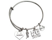 Swim Bangle Bracelet- Girls Swimming Bracelet- Swim Jewellery - Perfect Gift For Swimmers