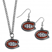 NHL Montreal Canadiens Dangle Earrings & Chain Necklace Set