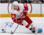 KIRK MALTBY AUTOGRAPHED DETROIT RED WINGS 8X10 PHOTO #2 - WHITE JERSEY