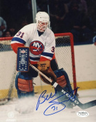 BILLY SMITH NEW YORK ISLANDERS SIGNED AUTOGRAPHED 8X10 PHOTO JSA SOA
