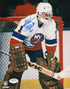 CHICO RESCH NEW YORK ISLANDERS SIGNED AUTOGRAPHED 8X10 PHOTO JSA SOA