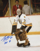 GERRY CHEEVERS HOF 85 #30 BOSTON BRUINS SIGNED AUTOGRAPHED 8X10 PHOTO W/COA