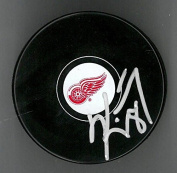 KIRK MALTBY AUTOGRAPHED RED WINGS SOUVENIR PUCK