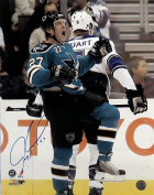"Jeremy Roenick Autographed SJ Sharks ""Celly"" 16x20 Photograph"