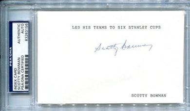 Signed Scotty Bowman Photograph - 3x5 Card - Autographed NHL Photos