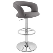 Slate Monza Adjustable Height Swivel Armless Bar Stool