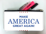 Make America Great Again Quote Stars Student Pen Pencil Case Coin Purse Pouch Cosmetic Makeup Bag