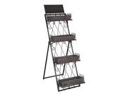 Hekman Furniture 27699 Tiered Metal Shelves