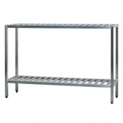 Newage Industrial 1027TB All Welded T-Bar Shelving Two Shelf, 60cm Diameter x 120cm Height x 150cm Length
