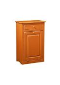 Trash Bin in Orange Finish