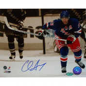NHL New York Rangers Chris Drury Skating up Ice Sepia Photograph, 41cm x 50cm