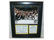 8x10 Photo Boston Bruins 11x14 Framed 2011 Stanley Cup Champions Scorecard