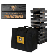 Pittsburgh Penguins Onyx Stained Giant Wooden Tumble Tower Game
