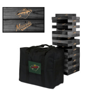 Minnesota Wild Onyx Stained Giant Wooden Tumble Tower Game