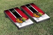 Chicago Blackhawks NHL Regulation Cornhole Game Set Vintage Version