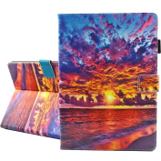 iPad Pro 10.5 Case, A-BEAUTY Painting Premium PU Leather Flip Wallet Slim Book Case for apple iPad Pro 27cm Case [Launched 2017], Sunset