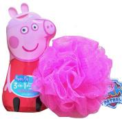 Peppa Pig Children's 3 in 1 Body, Shampoo, Conditioner Bubble Gum Scented With Bath Pouffe