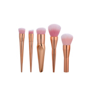 Kasla 5 Pieces Makeup Brush Set Professional Face Foundation Blush Powder Liquid Cream Cosmetics Blending Makeup Brushes