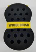 Barber Afro Magic Wave Sponge Double Side JUMBO [Small & Big Hole] Hair Brush