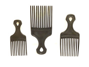 3pc AFRO PIK small med large size AFRO comb pik
