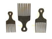 AFRO PICK African American Hair Pick 3pc Hookup set you get a 13cm 15cm 18cm 3pc Black AFRO pick Afro comb