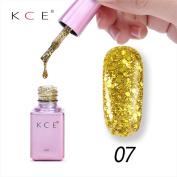 Vanvler New Arrival Odourless Gel Nail Manicure 6ml Diamond Glitter Nail Polish Sequins Gel Nail High Quality