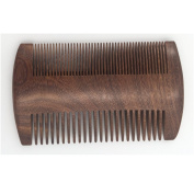 Dual Action Beard Comb- Black Sandalwood Fine/Coarse Tooth Anti-Static For . Beard & Moustache Grooming
