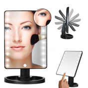 YBeauty Queen 180° Touch Screen 16 LED Light Make Up Cosmetic Vanity Mirror w/ removable 5X Magnifying Mirror