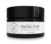 Facial Clay Dead Sea Mud Mask Organic and 100% Natural Face Mask. Original Formula. No Harmful Toxic Chemicals Or Ingredients. Vegan, Cruelty Free. By Christina Moss Naturals (240ml).