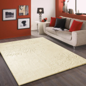 RUG ADDICTION FREE RUG PAD INCLUDED ~1.5m 2.1m Beige Floral Modern Indoor Living Room Area Rug with Artistic Design