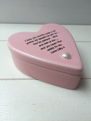 Shabby Personalised Chic Ceramic Heart Special Auntie Aunty Aunt Great Aunt. Gift Trinket Jewellery Box. Birthday Present