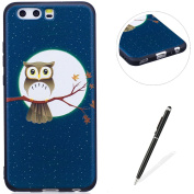 MAGQI Huawei P10 Case,Anti-Scratch Shock-Absorption Shockproof Durable Gel TPU Cover,Cute Panda Owl Animal 3D Cartoon Pattern Design For Huawei P10 Rubber Bumper Shell [with Black Stylus Pen],Premium Silicone Skin Drop Protection Case For Huawei P10 - ..
