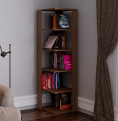 ANKLE Corner Bookcase - Book Shelf - Free standing Shelving unit for office and living room decoration