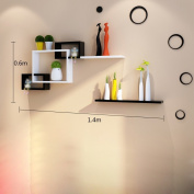 Wall Racks Living Room Television Wall Partitions Creative Lattice Bedroom Wall Bookshelf Decoration