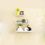 White Wall Frame Bedroom Bedside Wall Partition Three Pieces / Sets