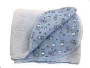 Zutano Gingham Blanket (Blue)