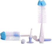 2-In-1 Baby Bottle Brush Set - With Nipple Brush - Rotatable Handle and Soft Bristle Technology -Sponge Head - by Utopia Home