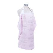Bebe au Lait Premium Muslin Sophie la girafe Carousel Nursing Cover, Pink